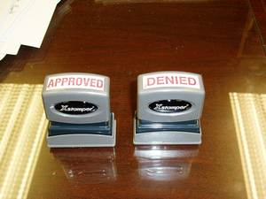 Loan approval stamp